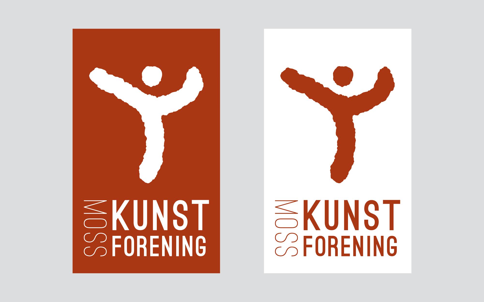 Sandaunet Designbyrå Moss Kunstforening Logo Illustrasjon