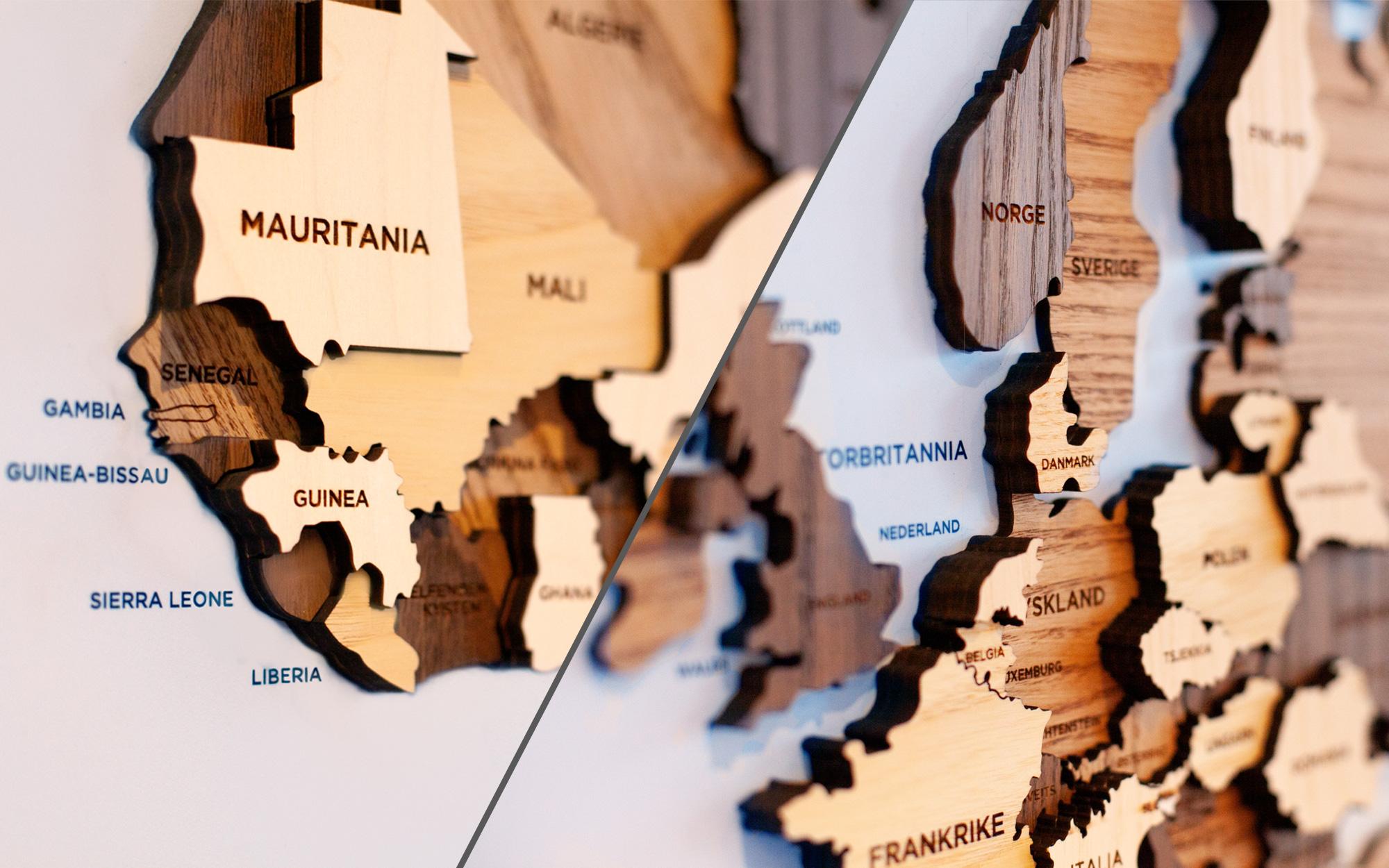 Sivil Klareringsmyndiget, Verdenskart i 3D, detalj