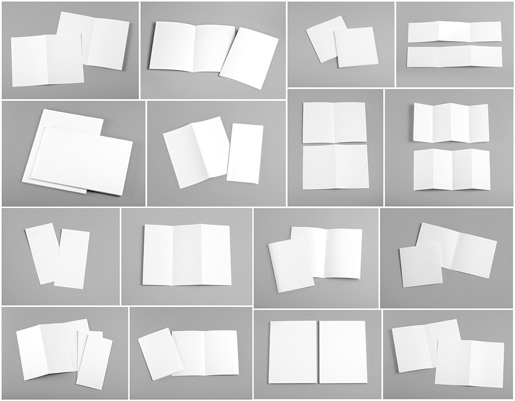 Papirstørrelser formater bretteteknikker