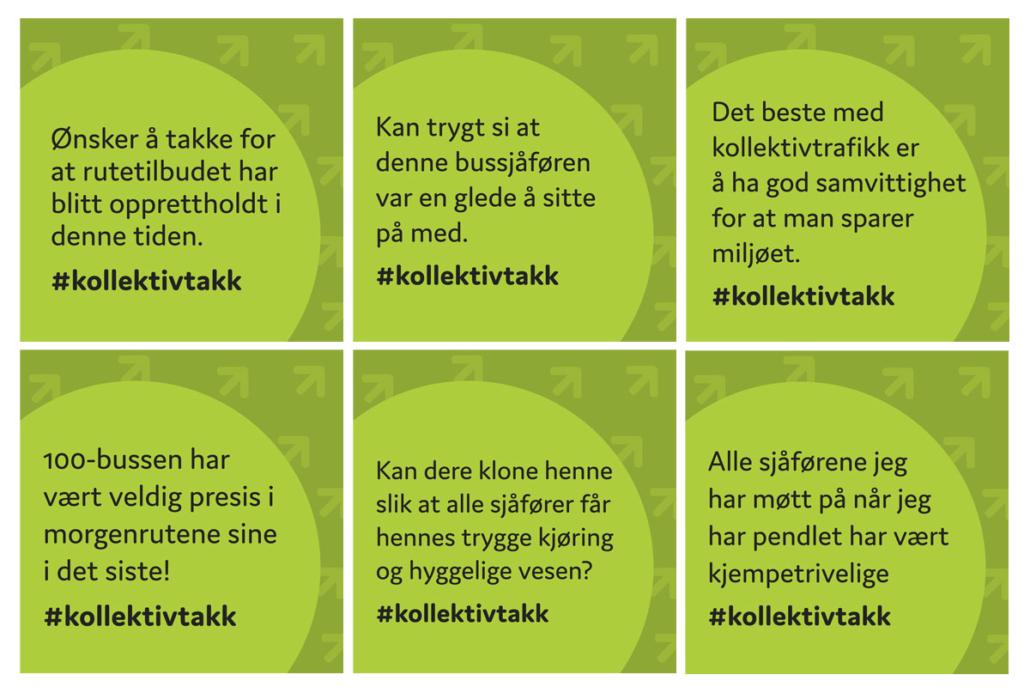 Sandaunet Designbyrå kundesitater facebook for Kollektivtrafikkforeningen
