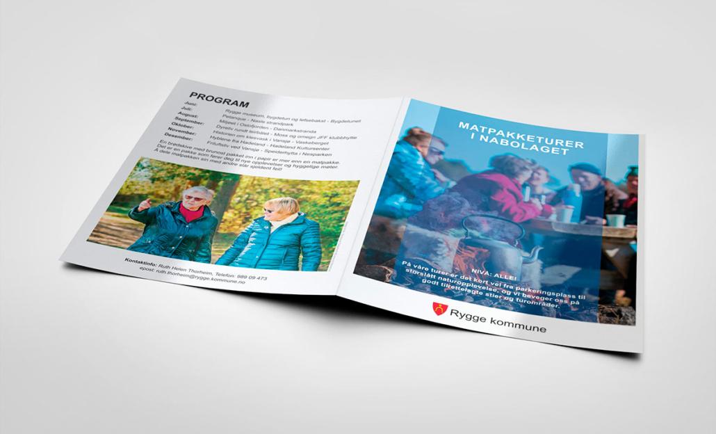 Sandaunet Designbyra Brosjyre Forside Bakside
